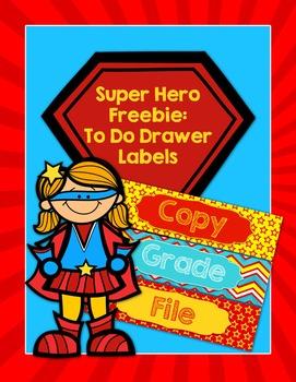 Super Hero To Do Drawer Freebie