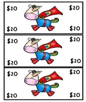 Unicorns Play Money Rewards and Behavior Set