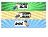 Super Hero Water Bottle Labels