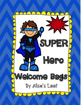 Publisher Super Hero Welcome Bags
