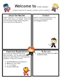 Super Hero Welcome Letter Template