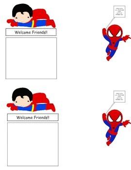 Super Hero Welcome Postcard