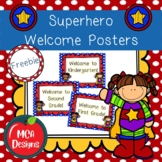 Superhero Welcome Posters