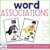Super Hero Word Associations Freebie!