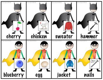 Super Hero Word Associations Freebie!