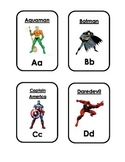 Super Hero Word Cards ABC A-Z