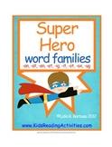 Super Hero Word Families