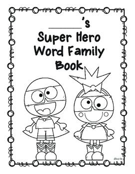 Super Hero Word Family Book