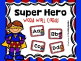 Super Hero Word Wall Cards