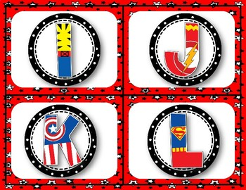 Super Hero Word Wall (PP-3rd Grade Words)