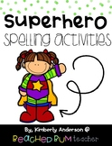 No Prep Superheroes Word Work - Word Study / Spelling / Sight Words