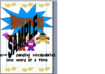 Super Hero Wow Words Wall