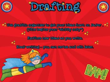 Super Hero Writing Clip Chart