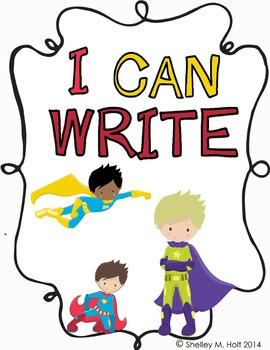 Super Hero Writing Packet