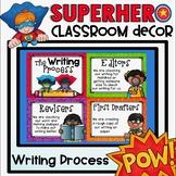 Writing Process Clip Chart {Superhero Classroom Decor Theme}