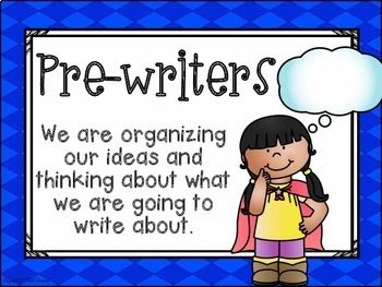 Writing Process Clip Chart {Superhero Classroom Decor Theme}