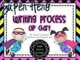 Super Hero Writing Process Clip Chart *bright chevron on black*