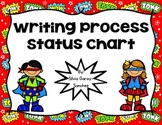 Super Hero Writing Process Status Chart