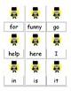 Super Hero cards game Dolch words pre-primer/primer