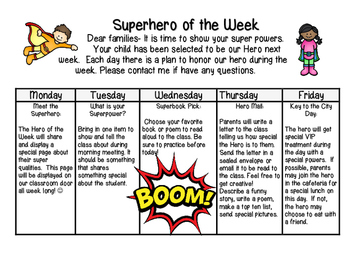 Super Hero of the Week Home Calendar