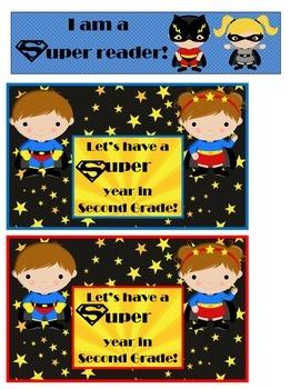 Super Hero postcards and bookmark