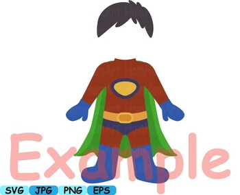 Super Hero props Clip Art school halloween decor costume birthday prop -173s-