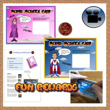 Super Hero rewards scratch cards
