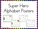 Super Hero's Posters and Tracing Sheets