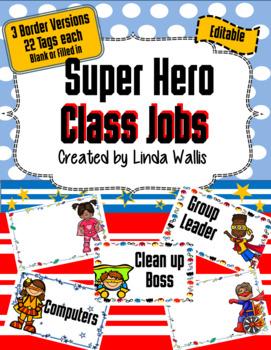 Super Hero themed Class Jobs List