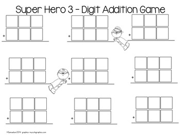 Super Heroes 3-Digit Games