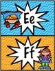 Super Heroes Alphabet Posters