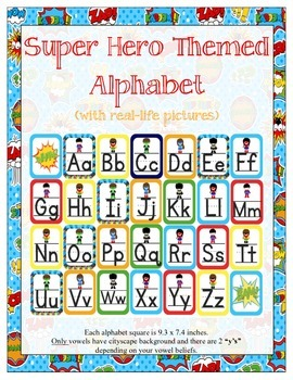 Super Heroes Alphabet Set