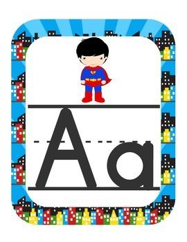 Super Heroes Alphabet Set