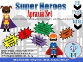 Super Heroes Apraxia Set: Speech Therapy for Early Sounds and Syllable Sequences