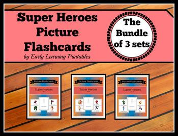 Super Heroes BUNDLE (Set I, II, III) Picture Flashcards