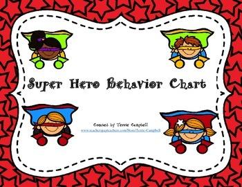 Super Heroes Behavior Chart