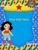Super Heroes Binder Covers Editable!!!