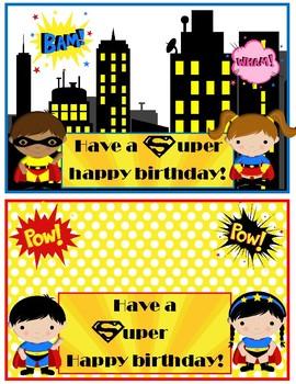 Super Heroes Birthday cards