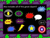 Super Heroes Borders, clipart, and Background graphics - C