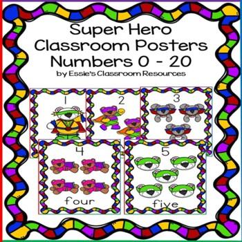 Super Hero Classroom Posters (0-20)