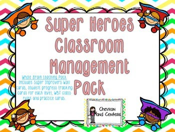 Super Heroes Classroom Management Pack
