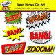 Super Heroes Clip Art