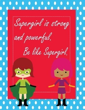 """Super Heroes Growth Mindset Posters - 8.5""""x11"""", 18""""x24"""" - Ready for Printing"""