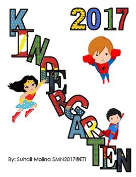 Super Heroes Kindergarten Banner 2017