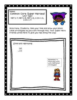 Super Heroes Math Test