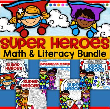 Superheroes Math and Literacy BUNDLE