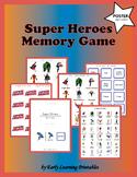 Super Heroes Memory Game
