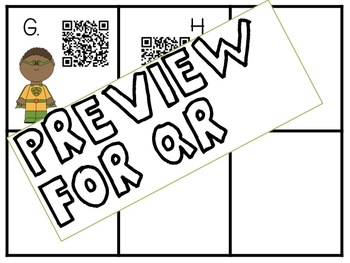 Super Heroes Mystery Number Puzzle QR Codes