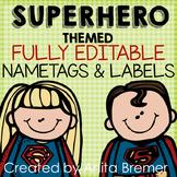 Superhero Nameplates and Labels EDITABLE