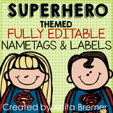 Superhero Nameplates and Labels EDITABLE